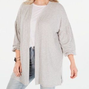 New Style & Co Open Cardigan Sweater Bishop Sleeve
